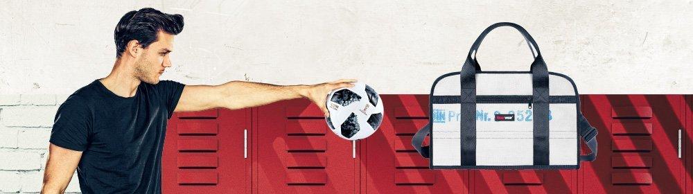 DDie stabile Sporttasche aus Feuerwehrschlauch für Fußball und anderen Sportarten
